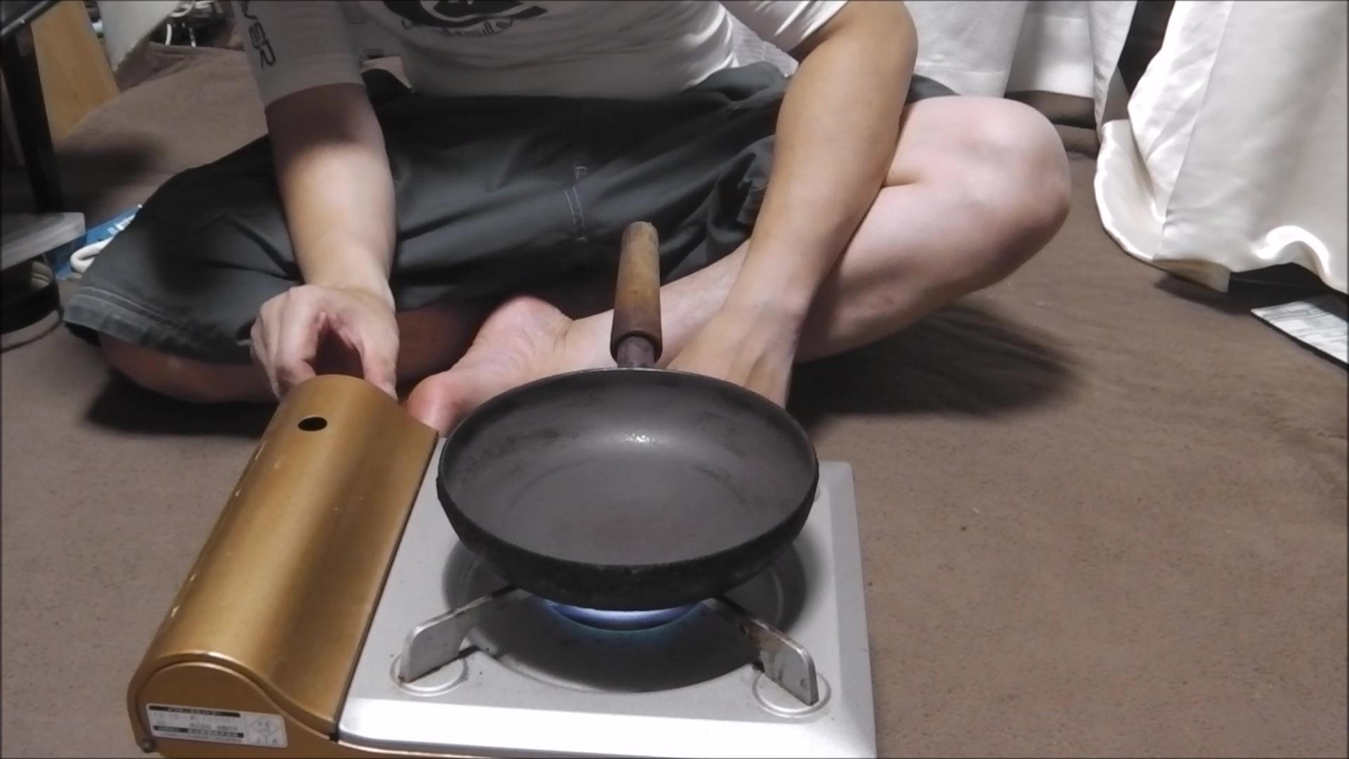 フライパン空焼き