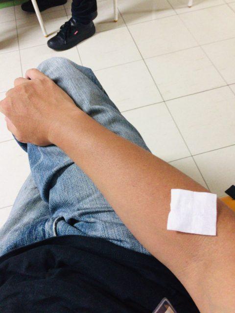 ワクチン接種後15分待機